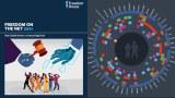 圖為自由之家的2021年網絡自由度年度報告封面。