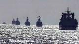 绕岛挑衅 中俄军舰列队绕行日本国境