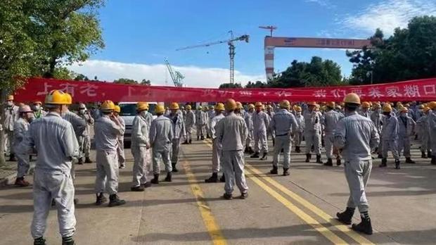 三星關寧波船廠數千工人抗議 傳東芝年內全線撤華